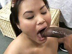 asian babe big black cock