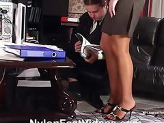 handjob stockings